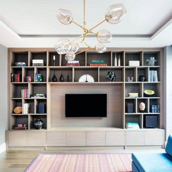 ترکیب تلویزیون با کتابخانه