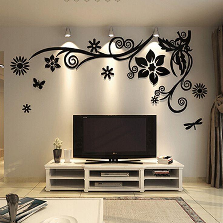 میز تلویزیون با کاغذ دیواری